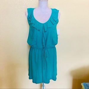 Anthropologie Cotton Turquoise Dress